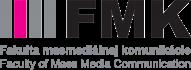 logo Fakulty masmediálnej komunikácie, tlačidlo odkazujúce na stránku FMK